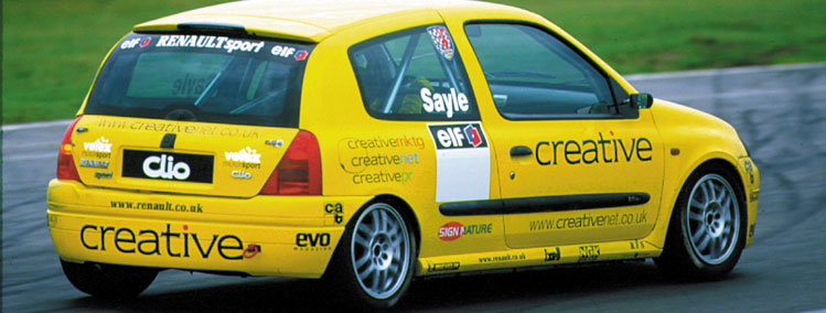 Sayle racing in Clio Cup